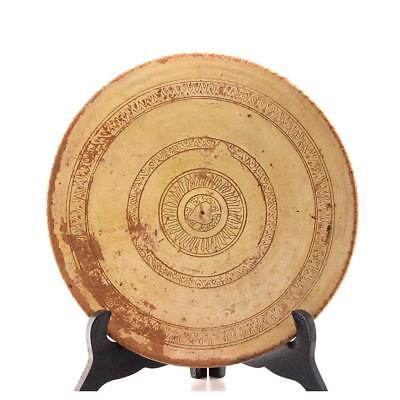 A Cypriot Tin-Glazed Ceramic Plate, ca. 10th-12th Centuries AD