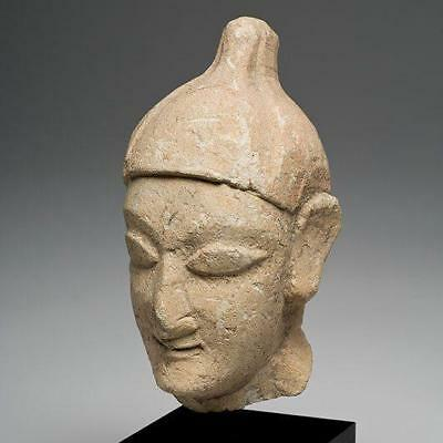 A Cypriot Limestone Head of a Youth, Archaic Period, 600-500 B.C.