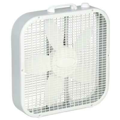Lasko 20 Inch 3-Speed Portable Electric Box Fan Quiet Indoor Outdoor Home Cool