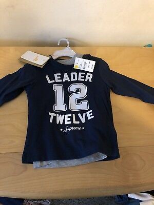 Mayoral Kids Sweet Clothes Boys 18 Months 2 Long Sleeve T-Shirts New With Tags