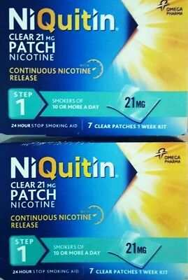 NiQuitin  21mg   ( 14 PATCHES  )   Step 1  Nicotine Replacement Stop Smoking Aid