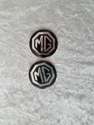 Pair MG Badge Stickers Measure 1.5 inches across NEW! NOS Ships in 24 hours!