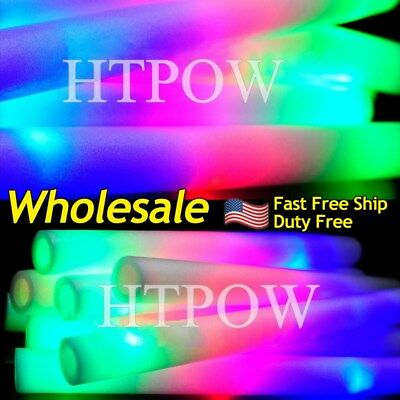 100-600 LED RGB Foam Stick Flashing Light Revel Party Light-up Glow Baton Wands