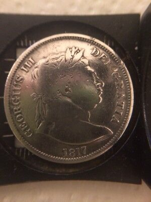 1817 George III Milled Silver Shilling