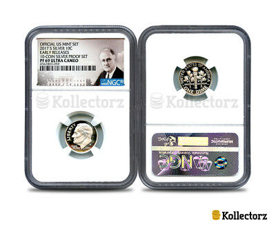2017-S Silver Roosevelt 10C Ngc Pf69 Ultra Cameo Portrait Label Early Releases!