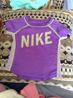 Purple Girl's NIKE  dry fit shirt 2T