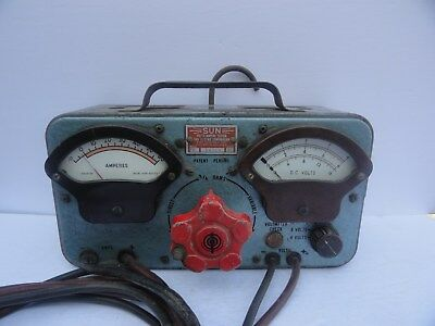 "1950's/60's SUN ELECTRIC VOLTS-AMPERE TESTER 11.5""/4.5""/7"" Gas Station Relic"