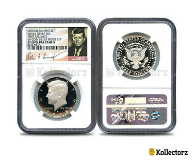 2018 S Silver Kennedy 50C Proof Ngc Pf69 U.c. Portrait Label First Releases