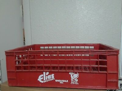 Vintage Elias Brothers Food Ad Big Boy Red Hard Plastic Box Shipping Crate 1963
