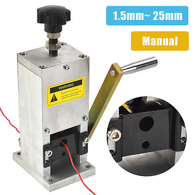 Manual Aluminum Wire Stripping Machine Copper Cable Stripper w/ Drill Connector