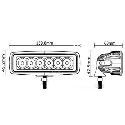 18W Spot 5D LED Light Work Bar Lamp Driving Fog Offroad SUV 4WD Car Boat Truck