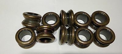 Solid Brass Neck Bushing Antique Brass Finish Lamp Repair Part Bag Of 10