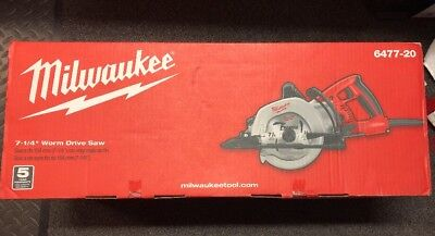 "Brand New Milwaukee 6477-20 7-1/4"" 15 Amp Worm Drive Circular Saw"