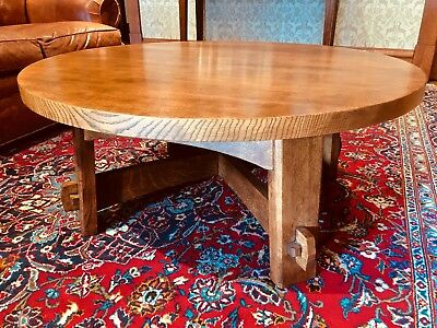 Arts and Crafts Mission Quarter Sawn Oak Cocktail Table by Stickley Audi & Co.