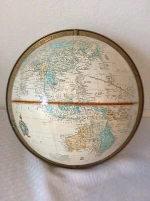 Vintage Crams Imperial World Globe With Degree Marker-No Stand E/W GERMANY-USSR