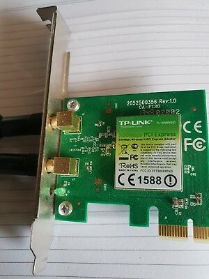 TP-LINK TL-WN881ND Wireless N PCI Express Adapter 300Mbps Windows 10 OK  F13