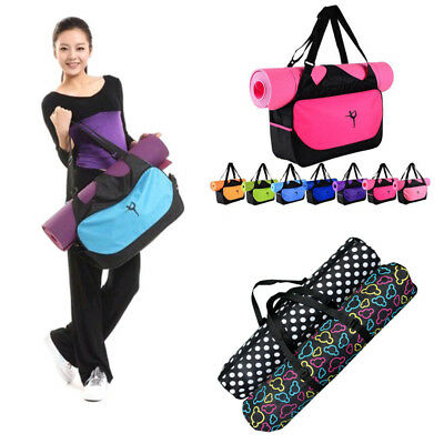 Portable Yoga Mat Bag Waterproof Oxford Carrier Washable Adjustable Strap Carry