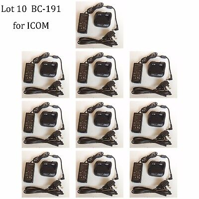 10X BC-191 NI-MH Rapid Charger Adapter for ICOM IC-F3210D IC-F4210D Radio