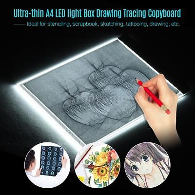 LED Tracing Light Box Board Art Tattoo A4 Drawing Pad Table Stencil Display L1G9