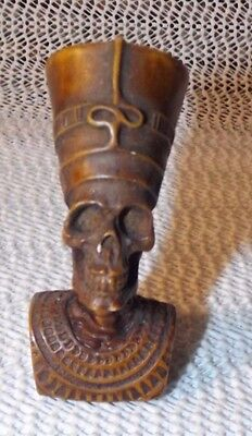 "Al Aseel Egyptian Skeleton Bust   Resin Compound   Approx. 3"" Tall  Unique"