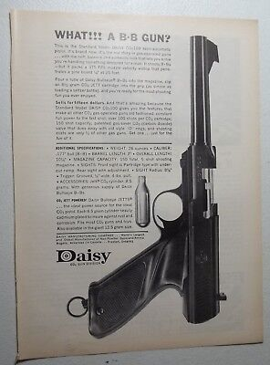 1962 Magazine Ad Daisy BB Gun CO2 Semi-Automatic Pistol CO2-100