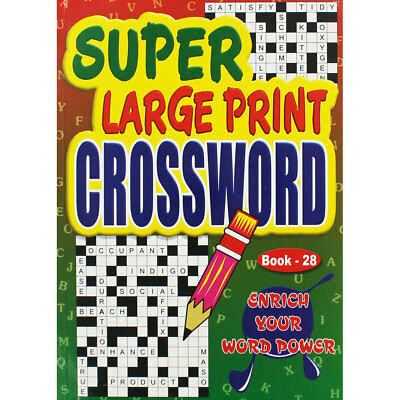 Super Large Print Crossword - Assorted (Paperback), Non Fiction Books, Brand New