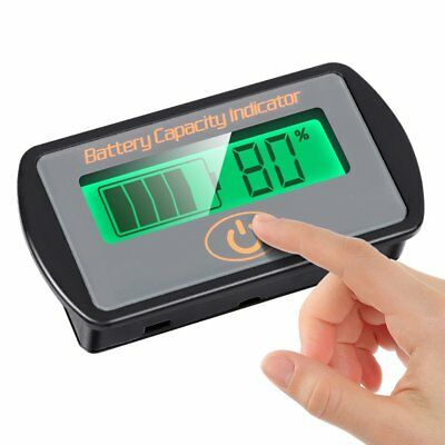 Battery Monitor Voltmeter Capacity Indicator SOC Touch 12V24V Lead-Acid AGM VRLA