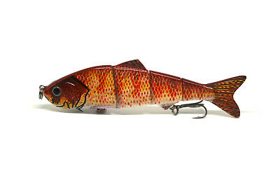 "4.8"" Multi-jointed Bass Pike Fishing Bait Swimbait Lure Life-like Perch NEW"