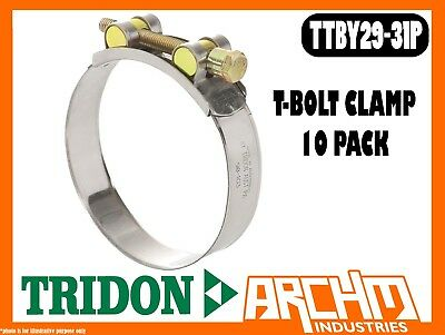 TRIDON TTBY36-39P T-BOLT CLAMP HOSE 10 PACK 36MM-39MM PART STAINLESS TTBY SERIES