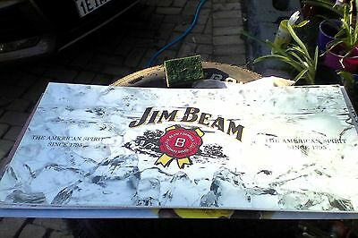 jim beam OLD perspex light front - make a great bar sign (type 2)