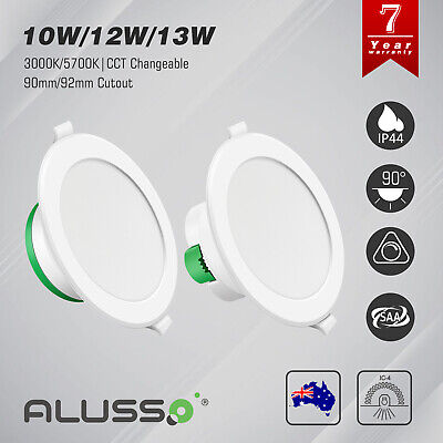10W 12W LED Downlight Kit Warm / Daylight White Dimmable & Non Dim White Frame