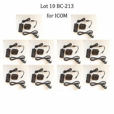 Lot 10 BC-213 Rapid Charger Adapter for ICOM IC-F2000T IC-F2000S IC-F2000 Radio