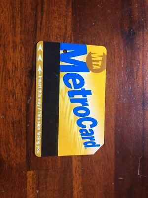 New York Metrocard NYC JFK Ubahn Subway Zug Ticket Gültig Urlaub Metro Manhattan