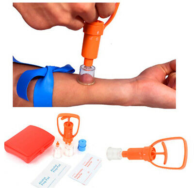 Venom Extractor Pump Kit Poison Remover Sets Emergency First Aid Supplies