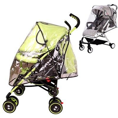 Baby Carriage Transparent Rain Cover Pram Pushchair Stroller Buggy Dust Cover UK