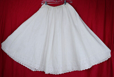 Vintage 50s Eyelet Peek A Boo Lace Trim Petticoat for Dress Skirt Slip