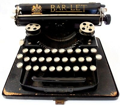 ►Antigua maquina de escribir BAR LET 1 portable circa  1934 TYPEWRITER►