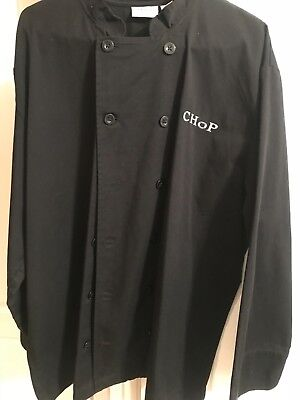 chef coat black XL long sleeve new chef works