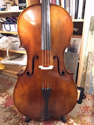 TopKlang 7/8 Cello Walter Mahr Bubenreuth mit 4/4 KORPUS ! YOUTUBE SoundDemo !
