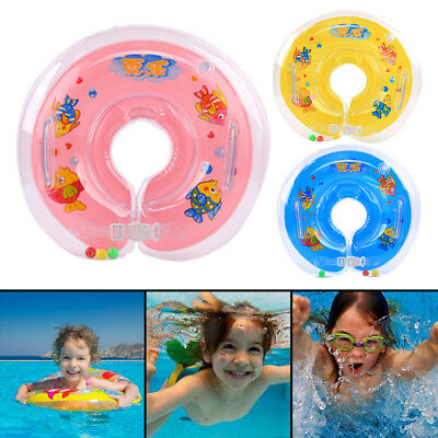 Babys Swimming Neck Float Infant Bath Ring Inflatable Safety Aids 0-18 Months