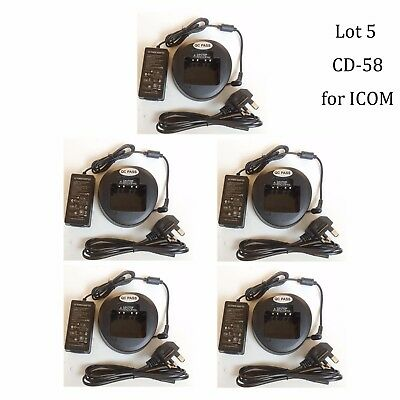 Lot 5 VAC-UNI CD-58 Li-ion Charger for Vertex Standard EVX-534 EVX-539 Radio