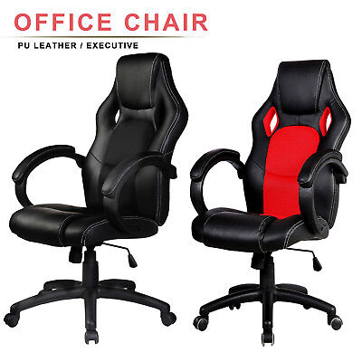 High Back Racing Car Style Bucket Seat Office Computer Desk Chair Gaming Chair