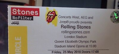 Rolling Stones 25th May - Standing - Golden Circle