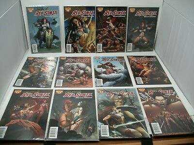 SAVAGE RED SONJA Queen of the Frozen Wastes #1-4 + Variants Lot of 12 VF/NM