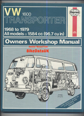 vw t2 transporter 1 6 haynes manual 1968 1979 camper kombi bay rh picclick co uk 1938 VW Bus Custom VW Bus