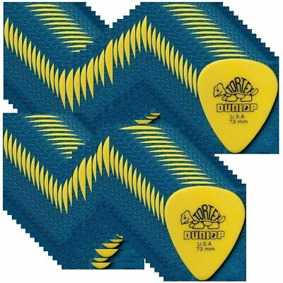 Dunlop Standard Tortex Plectrums Yellow 0.73 mm Gauge Guitar Picks 418R