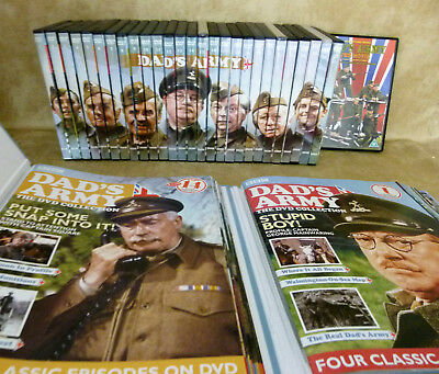 DVD Part Works DADS ARMY FULL Collection + Mags Folders & Book :Fathers Day Gift