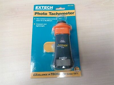 Photo Tachometer - Measures RPM Fans Gears Speed Rotating Extech 461700
