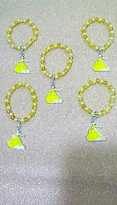 Five Beauty And The Beast Belle Charm Bracelets Free P+P