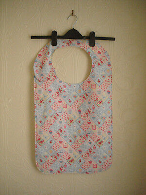 Adult Bib in a Small Cake pattern material